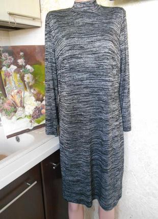 #roman originals# трендовое трикотажное меланжевое платье# большой размер 18 #