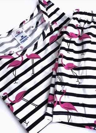 Пижама с фламинго размеры s/m/l/xl1 фото
