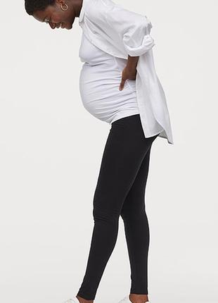 Оригинальные трикотажные леггинсы для беременных от бренда h&m разм. м