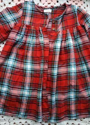 Фирменная рубашка туника из натуральной ткани next