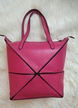 Cross шикарная большая вместительная сумка оригами,  хит