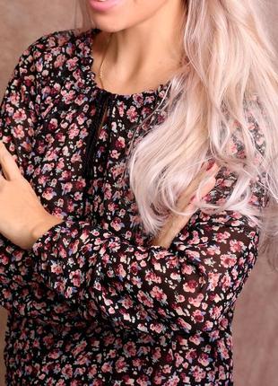 Шикарная блуза в цветочек reserved