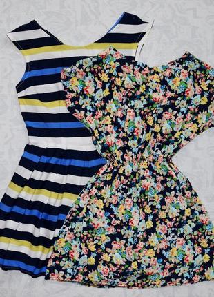 Комплект из летних платьев р.l разноцветное платье летнее короткое платье мини