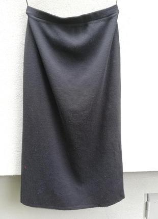 Красивая шерстяная юбка миди
