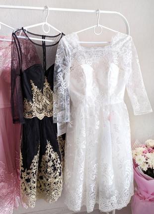 Белое нарядное свадебное платье, платье на выпускной