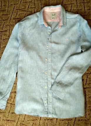Шикарная льняная рубашечка, брендовая