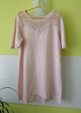 Платье лён италия