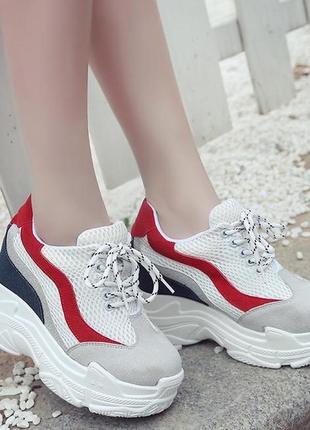 🌿 повседневные кроссовки на платформе/танкетке