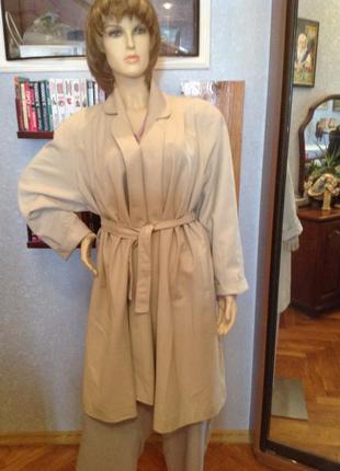 Английское классическое, летнее пальто (пыльник)бренда  classic woman, р.  54-66