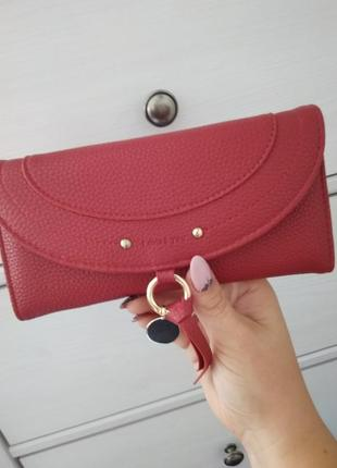 Женский кошелёк, цвета бордо 🌹 🌿