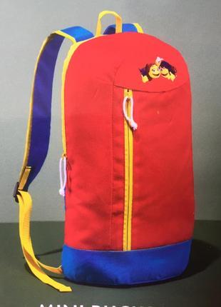 Детский подростковый мягкий рюкзак красный