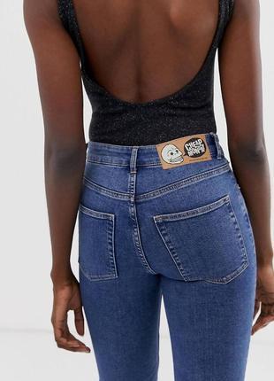 Выбеленные синие джинсы скинни с необработанным низом cheap monday, винтажные джинсы