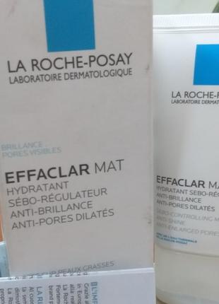 La roche-posay effaclar mat увлажняющая матирующая себорегулирующая эмульсия