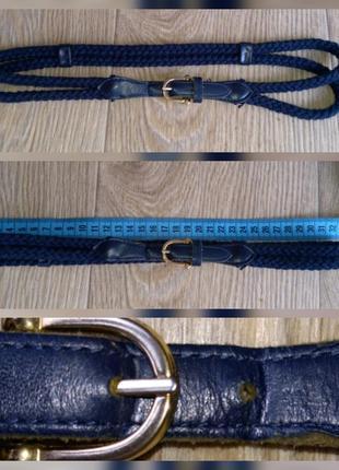 Тоненький поясок,ремень,кожа с канатным плетением