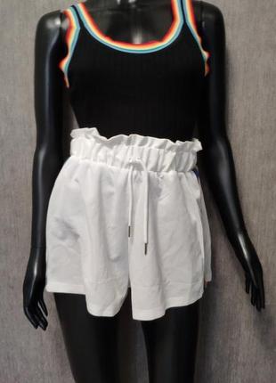 Яркие летние шорты с  высокой посадкой2 фото