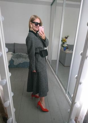 Актуальный винтажный костюм с юбкой №107 фото