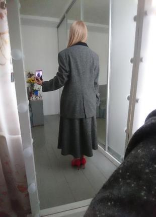 Актуальный винтажный костюм с юбкой №109 фото