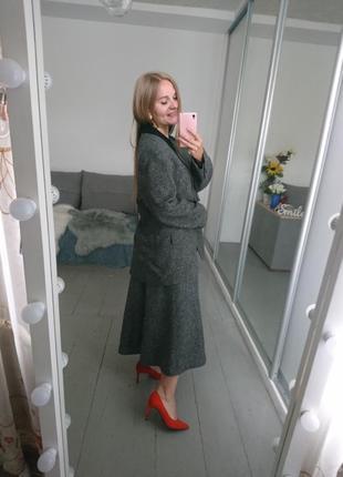Актуальный винтажный костюм с юбкой №108 фото