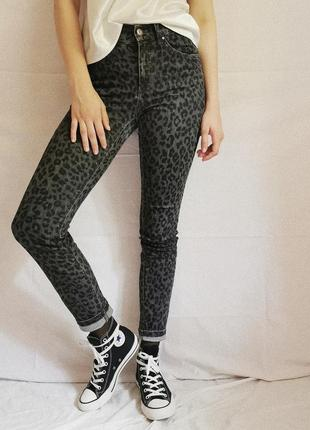 Винтажные леопардовые джинсы4 фото