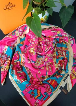 Очаровательный шёлковый платок в стиле hermes 🐎