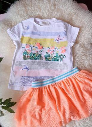 Комплект футболка и юбка 2-3