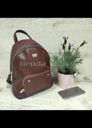 Стильный городской рюкзак со звездами от david jones cm3939 бордовый