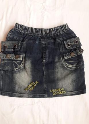 Джинсова юбка пряма/джинсовая юбка прямого покроя