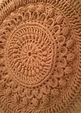 Ковер  коврик з поліефірного шнура плетений вязаний