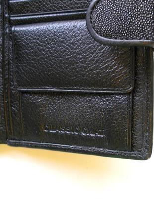 Vip кожаный кошелек портмоне бумажник, 100% нат. кожа ската + телячья, доставка бесплатно8 фото