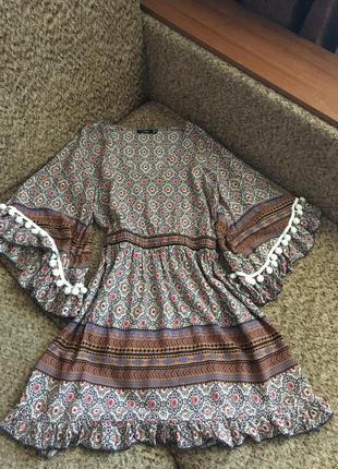 Легкое платье с бохо стиле из вискозы