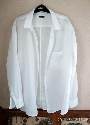 Marc o polo белая рубашка из тонкого льна р 52