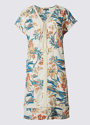 Льняное платье в стиле бохо marks & spencer