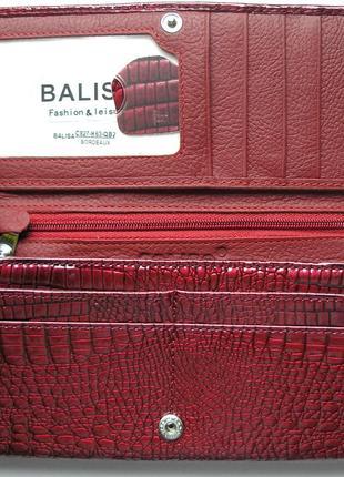 Большой кожаный лаковый кошелек bordo, 100% натуральная кожа, есть доставка бесплатно8 фото