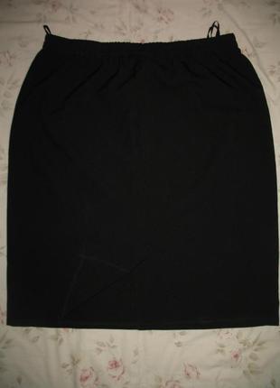 Юбка черная большой размер
