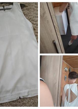 Актуальное стильное нежное платье с открытой спиной, р. 10-12