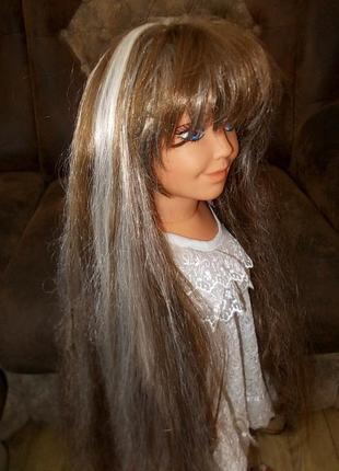 Парик длинные волосы - очень естественный