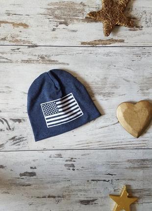 Шапка трикотажная флаг америки