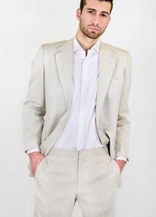 5caeaa9a45bfc Стильный мужской 💯 % льняной костюм очень дорогого бренда guy laroche  размер 54