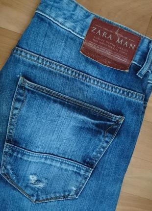 Стильные джинсы zara man рванки