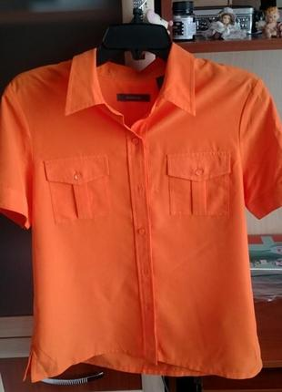 Оранжевая рубашка «liz claiborne»