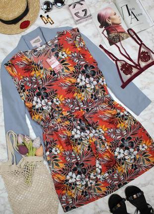 Обнова! платье сарафан флористический принт а-силуэт