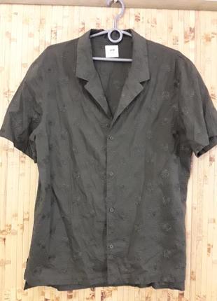 Тонкая батистовая рубашка вышивка коттон блузка