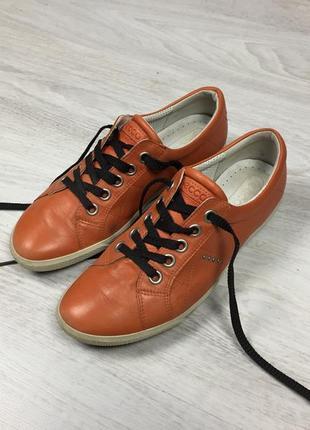 Красивые кроссовки туфли ecco lacoste!