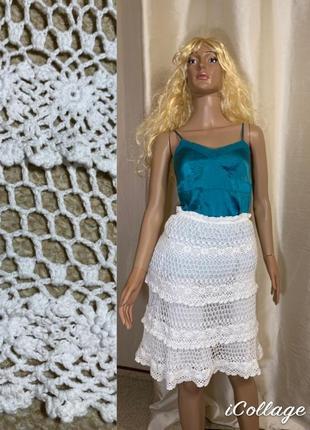 Шикарная вязаная кружевная юбка karen millen оригинал новая