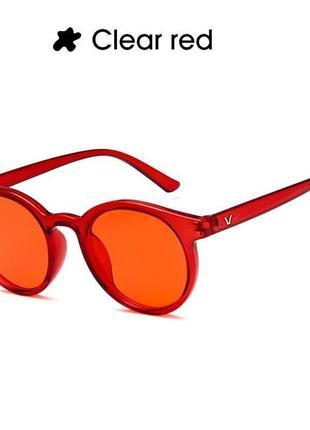 Красные полупрозрачные очки тренд новинка для имиджа стиля имиджевые унисекс