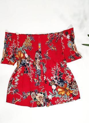 ❤️яркая блузочка в цветочный принт