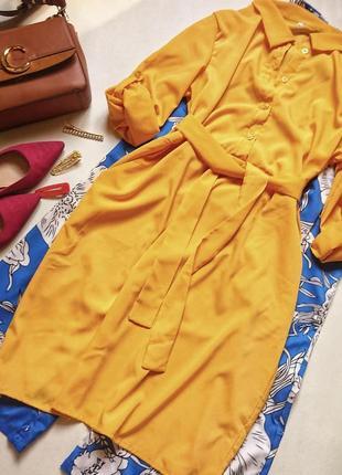 Шикарное платье рубашка под пояс