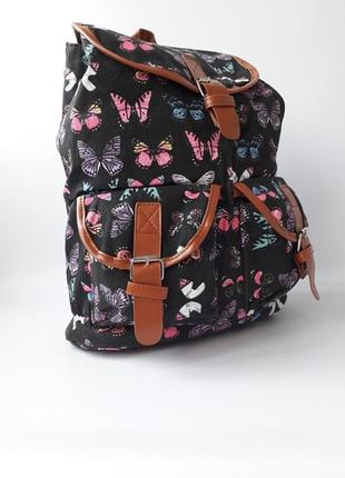 Стильный женский рюкзак, тканевый рюкзак бабочки