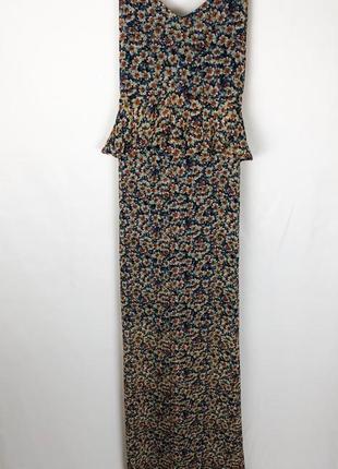 Сарафан в пол макси платье  в цветочный принт от zara