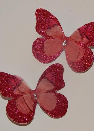 Заколки шифоновые бабочки